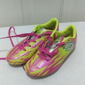 Size 11 girls Lotto pink cleats